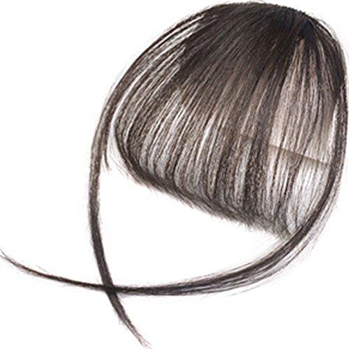 Haarteil mit Pony, Makeup Hair Extensions für Frauen Mädchen Damen, glatt vorne, sauberes Haar, Pony, Fake Hair Extensions