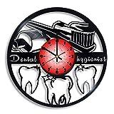 Dental Hygiene Gifts, Vinyl Clock, Dentist Office Decor, Dentist Wall Decor, Dental Hygienist Student Orthodontic Art