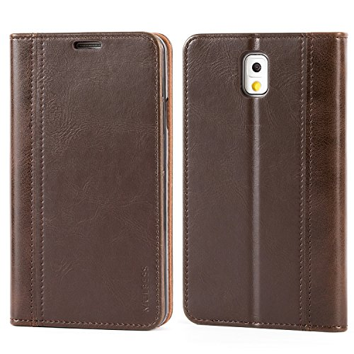 Mulbess Funda Samsung Galaxy Note 3 [Libro Caso Cubierta] Billetera Cuero de la PU Carcasa para Samsung Galaxy Note 3 Case, Vintage Marrón