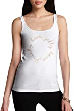 TWISTED ENVY Novelty Tank Top Women Peachy Keen Jelly Bean