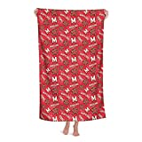 University of Um Maryland Quick Dry,Beach Towels Oversized Microfiber Bath Towels,Large Towels for Adults