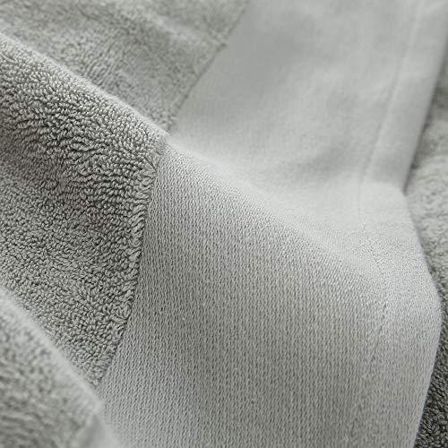 """URBANARA Handtuch """"Merouco"""" – 100% Bio-Baumwolle 100 x 150cm, Aloegrün, Frottee Verwebung"""