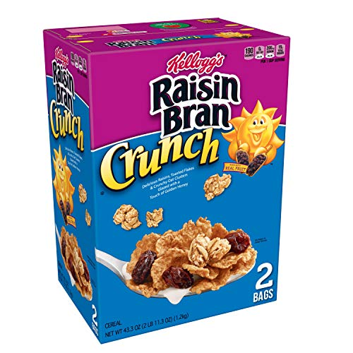 Kellogg#039s Raisin Bran Crunch Breakfast Cereal Original Good Source of Fiber 433 oz Box