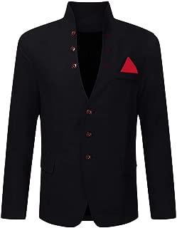 Succper Mens Casual Suit Jacket Single Breasted Slim Fit Vintage Business Blazers Coat