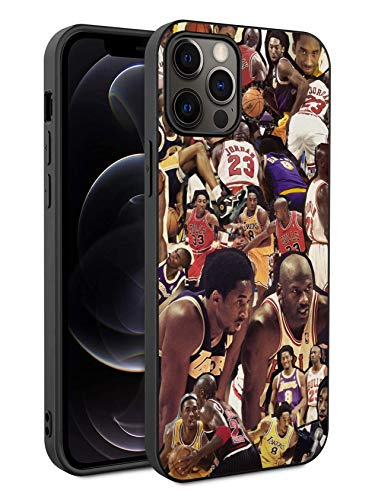 Basketball Fans Phone Case Compatible with iPhone 12 iPhone 12 Pro 6.1 inch (Kobe-MJ)