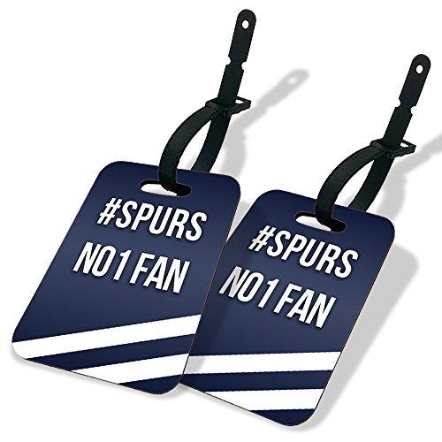 Koolart #Spurs No1 Fan MDF Luggage Tags Twin Pack