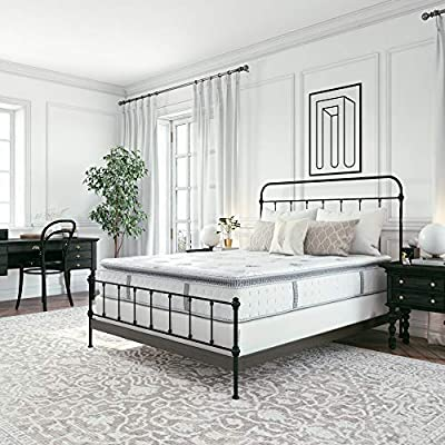 Classic Brands Mercer Cool Gel Memory Foam and Innerspring Hybrid 12-Inch Pillow Top Mattress   Bed-in-a-Box Queen