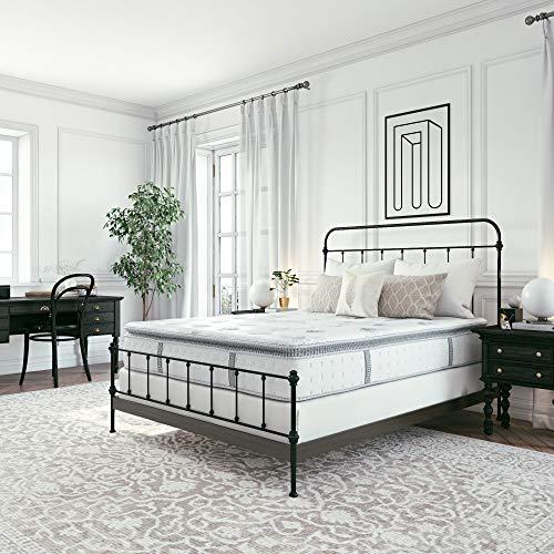 Classic Brands Mercer Pillow Top Cool Gel Memory Foam and Innerspring Hybrid 12-Inch Mattress, King
