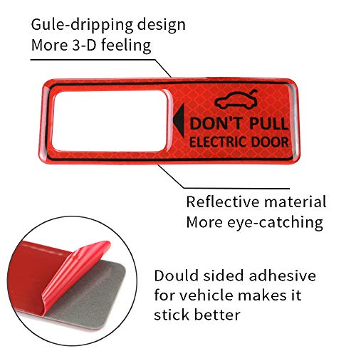 LUNQIN Power Tailgate Lift Warning Sticker for Audi A4 A5 A6 A7 A8 S5 S6 Q3 Q5 Q7 Q8 e-tron Interior Decoration Vehicle Accessories Reflective Sign Red