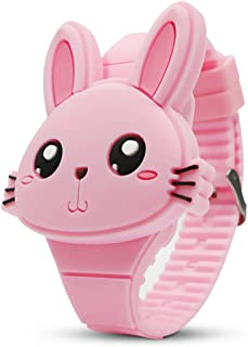 YSLON Kids Digital Watch,Cute Rabbit Shape,Girl Gifts.