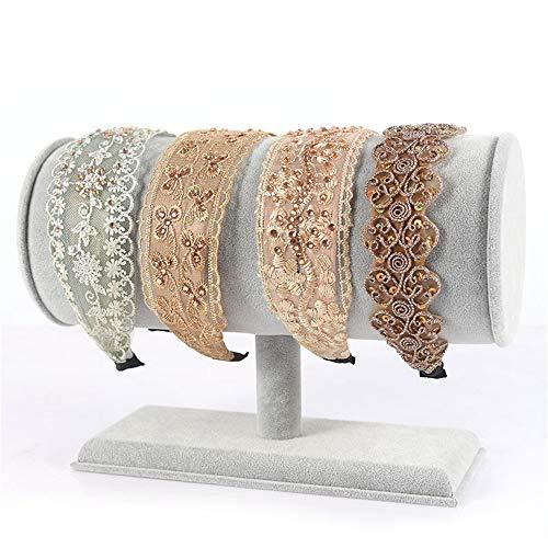 JiAGU Sieradenrek creatieve hoofdband display standaard haarband standaard suède haaraccessoires display sieraden voor vrouwen