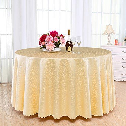 Nappe Table Tissu Banquet Table Basse Ronde Nappe Hôtel Rond Nappe Tissu Art 180cm, 200cm, 220cm, 240cm nappe (Couleur : Beige, taille : 240cm)