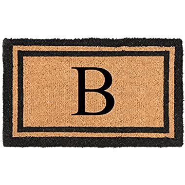 Nance Industries YourOwn Monogrammed Welcome Mat, Letter B, 22-Inch By 36-Inch
