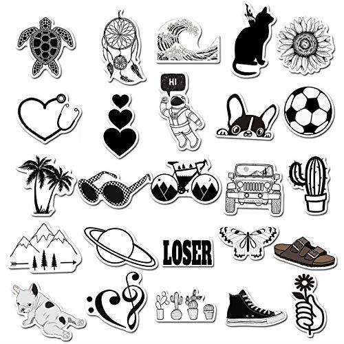 PMSMT 50 Uds Dibujos Animados Paisaje de Animales pequeñas Pegatinas de Graffiti Fresco Pegatinas de Viaje Scooter Equipaje portátil DIY Pegatinas Juguetes para niños