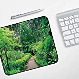 Gaming Mousepad Mauspad,Wald, Grünpflanzen Bäume in Singapur Asien Botanische Gärten Gehweg Reiseziel Arboretum, Grün,Komfort Mousepad - verbessert Präzision und Geschwindigkeit
