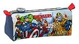 SAFTA Astuccio con cerniera e scomparto Avengers Heroes Vs Thanos, 210 x 70 x 80 mm