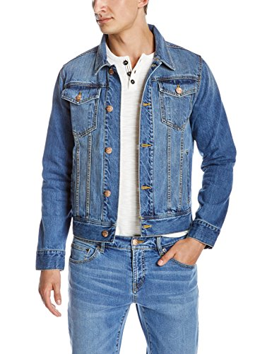 Quality Durables Co. Men's Regular-Fit Jean Jacket (Middle Denim Blue, XX-Large)