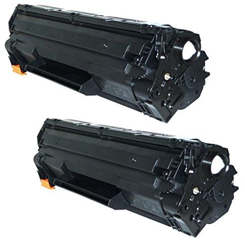 Prestige Cartridge CE285A Pack de 2 Cartuchos de tóner láser compatibles para HP Laserjet Pro P1102 P1102W M1210 M1210MFP M1212NF M1213NF M1217NFW M1130 M1132 M1132MFP M1134 M1134MFP M1136 M1136MFP