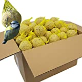 DILUMA Lot de 120 boules de graisse - 10,8 kg - Naturelles et énergétiques - Pour oiseaux sauvages - Avec filet