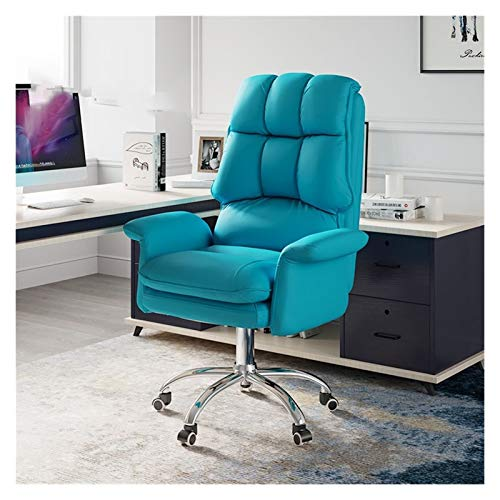 JMXAFMY Gambling Sitz, ergonomischer Gambling Stuhl für Büro, verstellbarer drehbarer Spielstuhl, abnehmbare Rückenlehne Spielsitz (Farbe: blau)