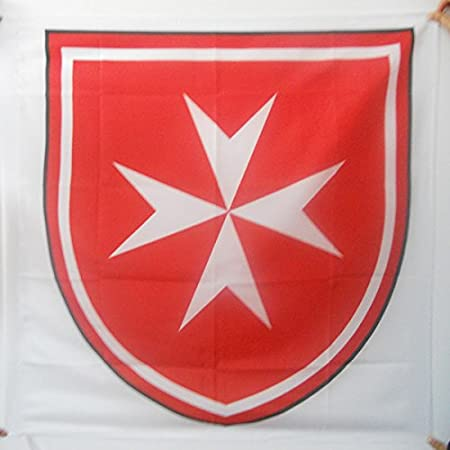 Bandiera da bastone Sovrano Militare Ordine di Malta 50x75cm