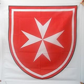 AZ FLAG Bandera del Escudo SOBERANA Orden DE Malta 90x90cm para Palo - Bandera Ejercito DE