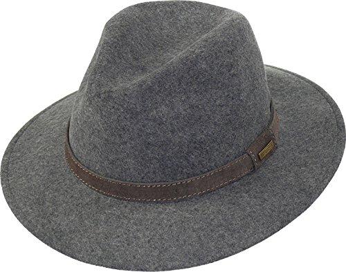 Harrys-Collection Rollbarer Hut in 3 Farben, Farben:grau, Kopfgröße:57