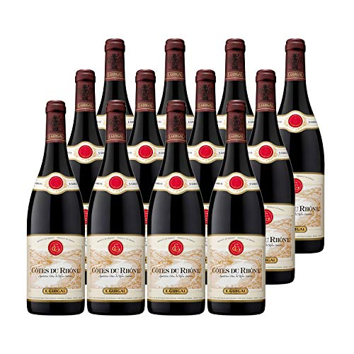 Côtes du Rhône Rotwein 2017 - Maison Guigal - g.U. - Rhonetal Frankreich - Rebsorte Grenache, Syrah - 12x75cl