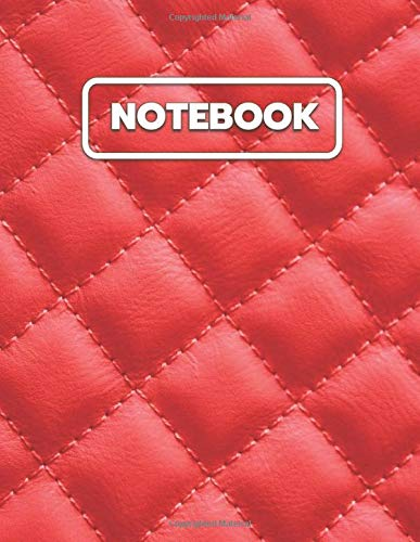 Red Leather Sofa Notebook: College Ruled Notebook And Journal For Writing, Listing, Taking Notes, Gifts Idea, Large Size Notebook To Write In