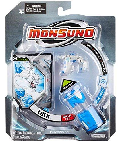 Giochi Preziosi Monsuno – Core-Tech Lock Bleu, Blanc – Figures de Jouet pour Enfants (Bleu, Blanc, 4 Année (s))