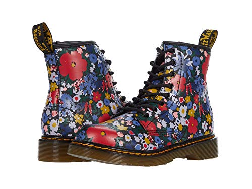 Dr. Martens Kid's Collection 1460 Wanderflora (Big Kid) Black Hydro Leather 4 UK (US 5 Big Kid) M