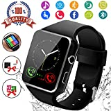Montre Connectée,Smart Watch Montre Connectée Homme Montre de Sport Bluetooth Smartwatch Montre Connectee Montre Homme Femme Montre Intelligente avec Podomètre Caméra pour Android iOS Samsung Huawei