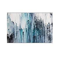 """現代抽象芸術青いキャンバス絵画リビングルームの壁の写真北欧のミニマリズムアート装飾的な写真-70x120cm / 27.5""""x47.2"""" フレームなし"""
