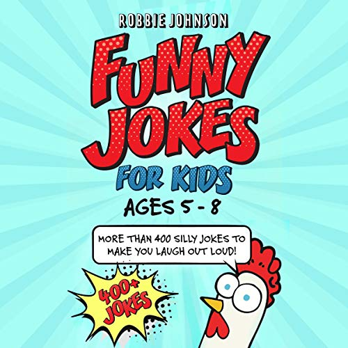 Funny Jokes for Kids: Ages 5-8 audiobook cover art