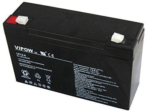 Vipow - Batería de Movilidad 6V 12Ah Bateria de Ciclo Profundo de Gel. Pila Recargable. Acumulador