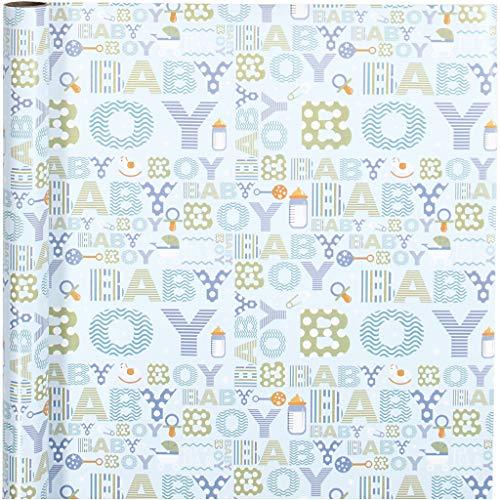 Inpakpapier, B: 50 cm, baby boy, 5m