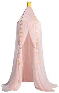 Dix-Rainbow LEDUNUS Princess Bed Canopy Mosquito Net for Kids Baby Bed, Round Dome Kids Indoor Outdoor Castle Play Tent Ha...