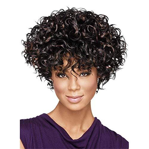 Robe Perruque Avant Dentelle Réaliste Mode Perruques Courte Curl Moelleux Cheveux Bouclés Perruques Humaines pour Les Femmes 130% Densité