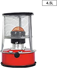 Estufa de Queroseno, 7800-8900 kcal/Hora, Blanco 6L / Rojo 4.5L, Calentador de Estufa de Queroseno doméstico de Interior, Estufa de Gas de Cassette Estufa de Queroseno Calentador de Tipo portátil