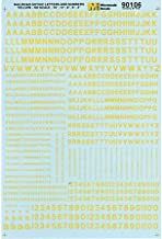 Microscale HO Scale Letters & Numbers, Gothic/Yellow