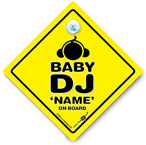 DJ DJ Baby, Baby an Bord Autoaufkleber,