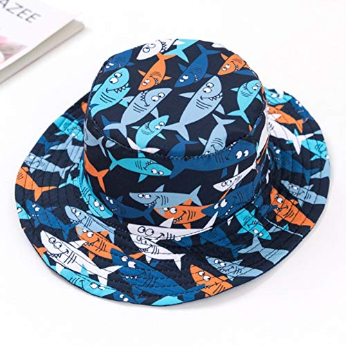 Gaodpz Baby-Mädchen-Hut-Kappe for Kinder Kinder Kleinkinder Panama Eimer Fischen Floppy Sonnenhut Jungen Mädchen Cartoon Mode 6M-12 Jahre (Farbe : H, Size : M)
