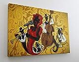 Gemälde Musik Band Jazz Blues Le...