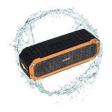 Andoer 10W Altavoz Estéreo Inalámbrico Bluetooth 4.0 al Aire Libre Caja de Sonidos Portátil Manos libres Aux en LED Linterna Naranja