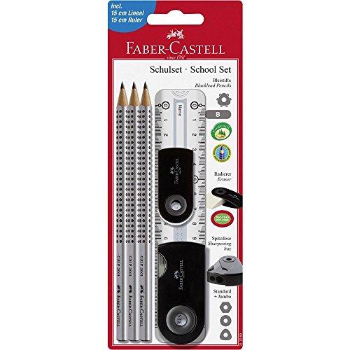 Faber-Castell 10005974 Lot de 3 Ecoles Sleeve Noir