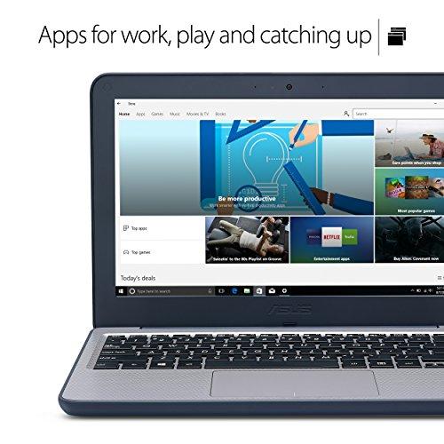 ASUS VivoBook W202NA-YS02 Rugged 11.6-inch Windows 10 S (Upgradable to Pro) K-12 Education Laptop, Intel Celeron processor 2.4 GHz, 4GB RAM, 64GB eMMC HDD, spill proof keyboard, USB 3.0, HDMI, webcam