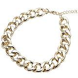 WXJHA Collier chaîne de Chien d'or Bijoux à la Mode en Laiton de la chaîne de...