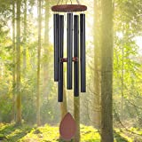 """ASTARIN Wind Chimes Outdoor Deep Tone Large,36"""" Wind Chimes Melody with 5 Heavy Tuned Tubes for Garden Backyard Church Hanging Decor,Memorial Wind Chimes for Funeral Sympathy Gift,Black"""
