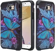 Galaxy J3 Luna Pro Case,J3 Prime Case,Galaxy J3 Eclipse Case,Galaxy J3 Emerge,Amp Prime 2,Express Prime 2,Sol 2,J3 Mission Shock Proof Phone Case Compatible for Samsung J3 2017, Blue Butterfly
