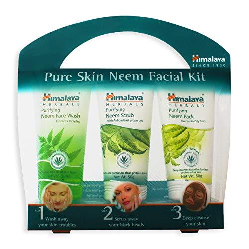 Himalaya Pure Skin Neem Facial Kit (Facewash 50ml, Scrub 50g & Face Pack 50g)